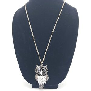 Owl 🦉 pendant Necklace in silver tone chain